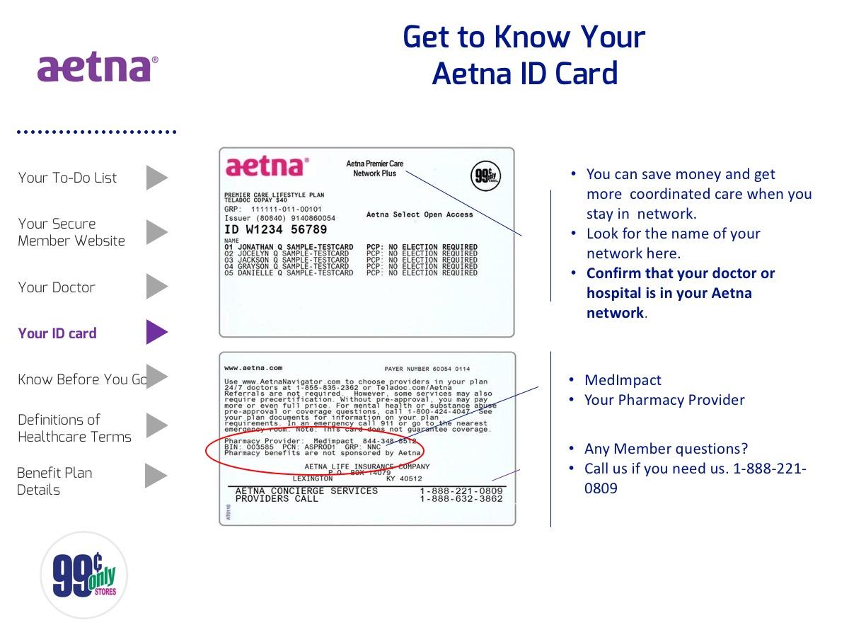 Aetna Insurance Card Sample | aesthetic name